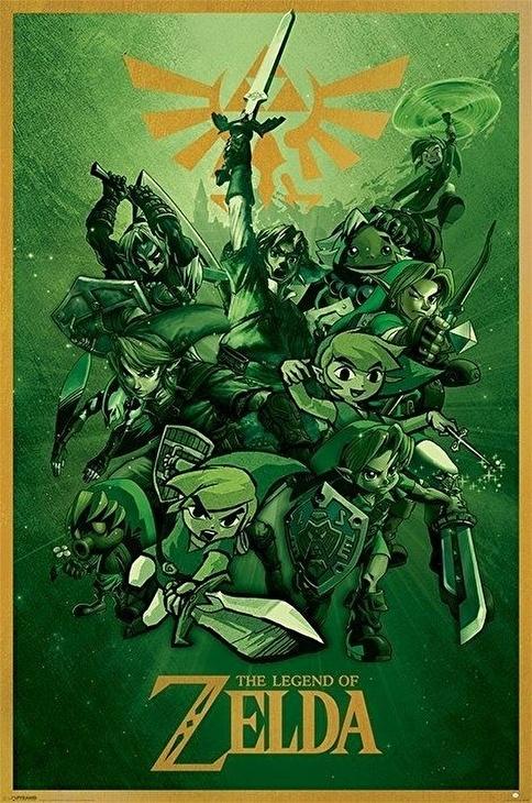 Pyramid International Maxi Poster The Legend Of Zelda (Link) Renkli